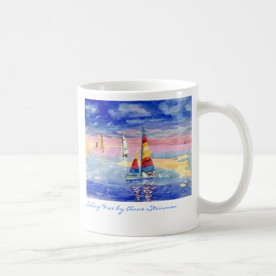 Sailing Free Hobie Cat Coffee Mug