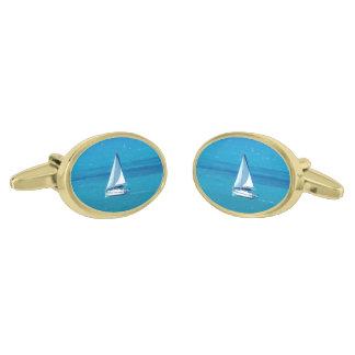 Sailing Gold Finish Cufflinks