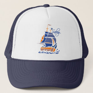 Sailing hat, customizable - choose color trucker hat