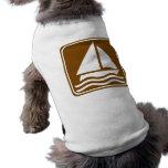 Sailing Highway Sign Doggie Tee Shirt