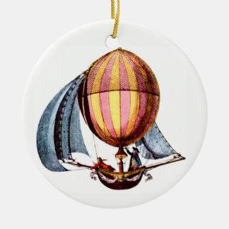 Sailing /Hot Air Balloon Christmas Ornament
