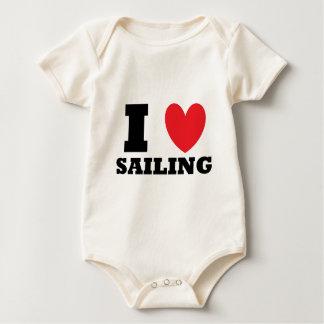 Sailing.  I Love Sailing. Baby Bodysuit