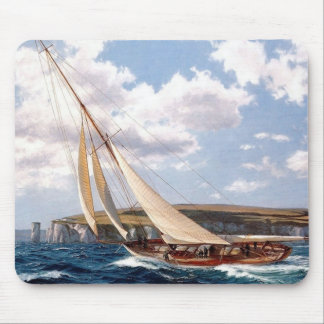 Sailing in a rough sea mouse mat