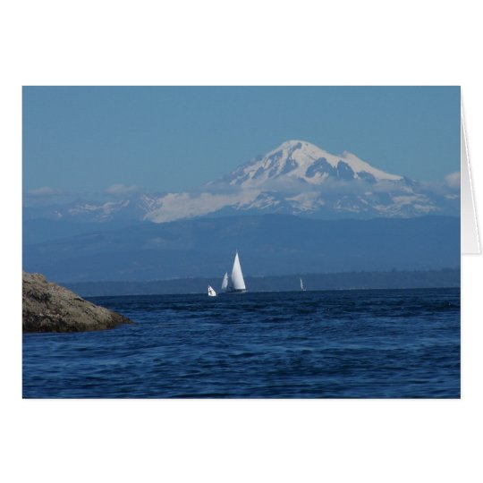 Sailing in front of mt. Baker Card