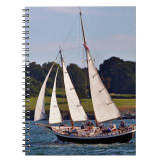 Sailing In Newport, Rhode Island, USA Notebooks