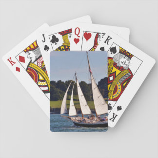 Sailing In Newport, Rhode Island, USA Playing Cards