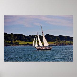 Sailing In Newport, Rhode Island, USA Poster