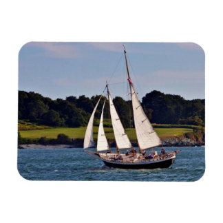 Sailing In Newport, Rhode Island, USA Rectangular Photo Magnet