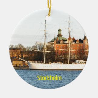 Sailing in Stockholm, Sweden Christmas Ornament