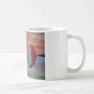 sailing in the bay coffee mug