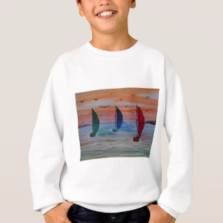 sailing in the bay sweatshirt