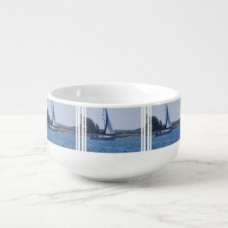 Sailing in the Blue Soup Mug
