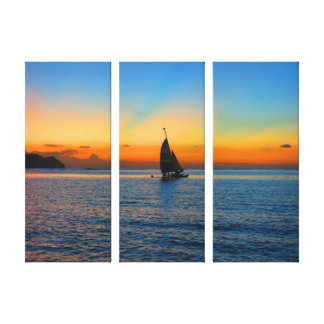 Sailing in Tumon Stretched Canvas Print