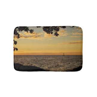 Sailing into the Sunset Bath Mat