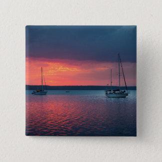Sailing Into The Sunset | Cienfuego, Cuba 15 Cm Square Badge