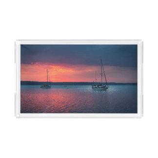 Sailing Into The Sunset | Cienfuego, Cuba Acrylic Tray