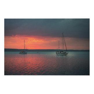 Sailing Into The Sunset   Cienfuego, Cuba Wood Wall Art