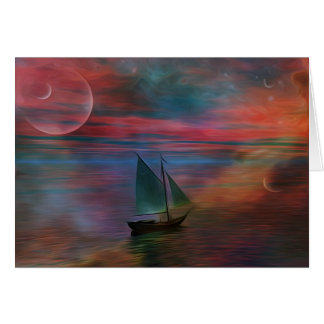 Sailing into the Unknown Card