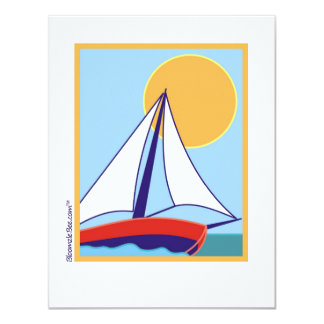 Sailing. 4.25x5.5 Paper Invitation Card