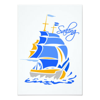 Sailing invitation, customizable card