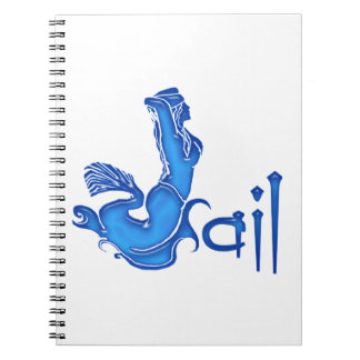 Sailing Mermaid Spiral Notebook