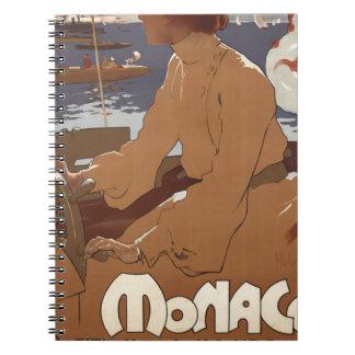 Sailing Monaco Spiral Notebook