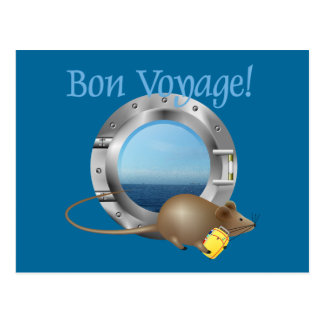 Sailing Mouse on Vacation Post Cards