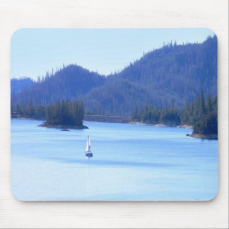 Sailing off in to the mountains... mouse mat