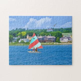 Sailing on Lake Huron Upper Michigan Puzzles