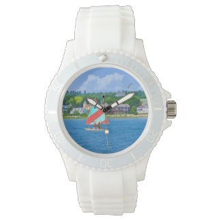 Sailing on Lake Huron Upper Michigan Wristwatches