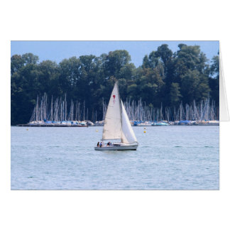 Sailing on Lake Luzern Note Card