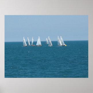 """""""Sailing on Lake Michigan"""" Poster"""