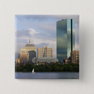 Sailing on the Charles River in Boston, 15 Cm Square Badge
