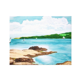 Sailing On The Helford River Painting Canvas Print