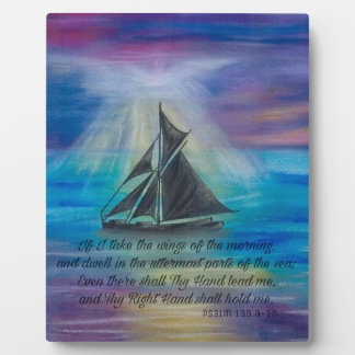 Sailing on Tranquil Seas Display Plaque
