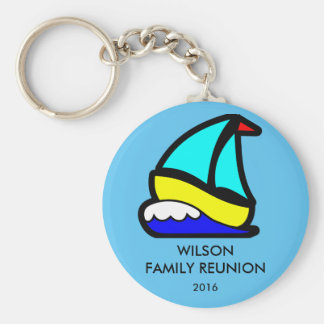 Sailing or Cruise Reunion (or Event) Basic Round Button Key Ring