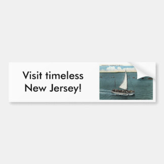 Sailing Party Wildwood by the Sea NJ Vintage 1934 Bumper Sticker