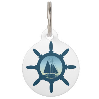 Sailing Pet Name Tag