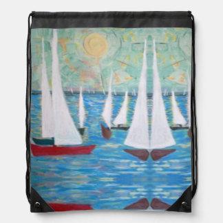 Sailing Regatta, Drawstring Backpack