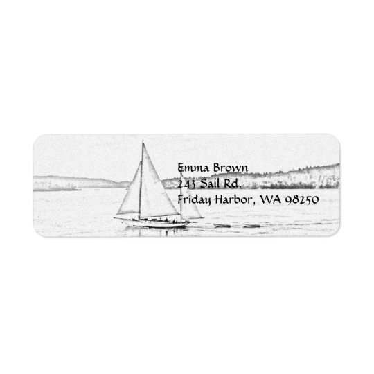 Sailing Return Address Label
