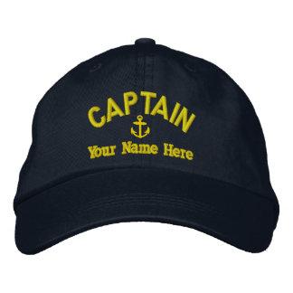 Sailing sailboat captains embroidered hats