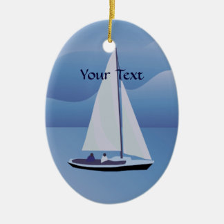Sailing Sailboat Oval Ornament