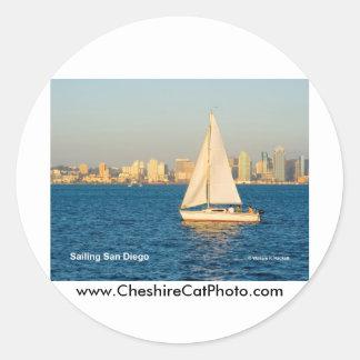 Sailing San Diego California Products Round Sticker