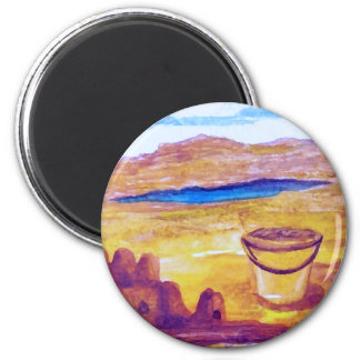 Sailing Sand Castle Moat CricketDiane 6 Cm Round Magnet