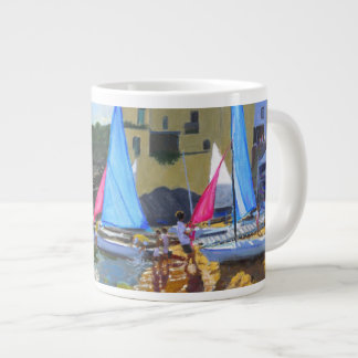 sailing school calella de palafrugall costa large coffee mug