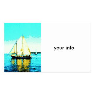 sailing schooner business card