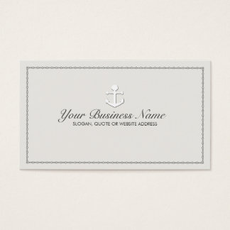 Sailing Ship Anchor Nautical Business Card