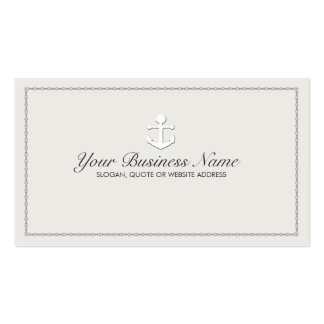 Sailing Ship Anchor Nautical Pack Of Standard Business Cards