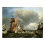 Sailing Ship and States Yacht Tacking Postcards
