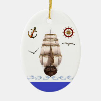 Sailing Ship Christmas Ornament